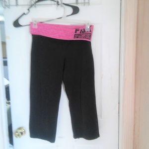Pink Yoga Victoria's Secret Capri Leggings